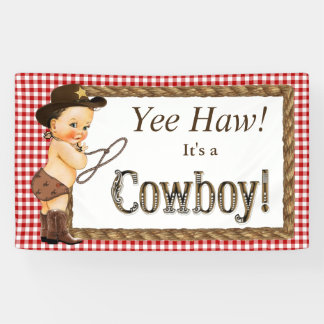Cowboy-Babyparty Banner