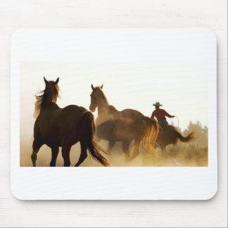 Cowboy Lassopferd Mousepad
