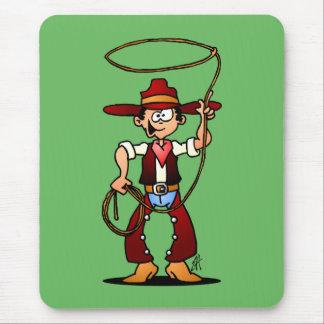 Cowboy mit einem Lasso Mousepad