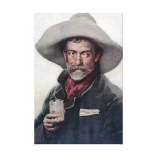 Cowboy-Porträt-Vintage Malerei Leinwanddruck
