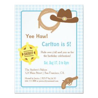 Cowboy scherzt Western-Geburtstags-Party 10,8 X 14 Cm Einladungskarte