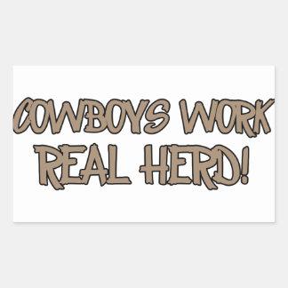 Cowboyentwürfe Sticker