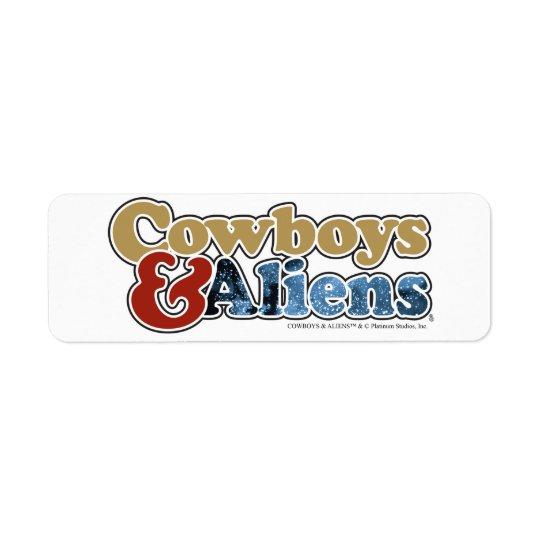 Cowboys u. Außerirdische - Platin-Studios Rücksendeetiketten