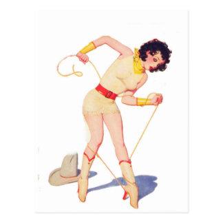 Cowgirl-Krawatten-Schuh Postkarte