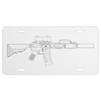 CQBR MK18 Mod 0 Lizenz-Platte US Nummernschild