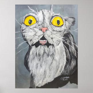 Crazy cat poster