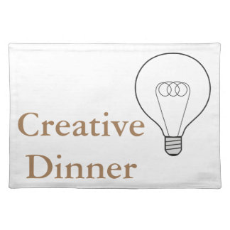 Creative Dinner Tischset braune Schrift