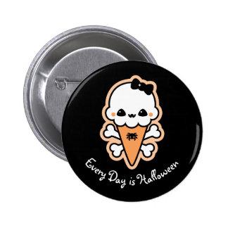 Creepy niedlicher Eiscreme-Kegel Runder Button 5,1 Cm