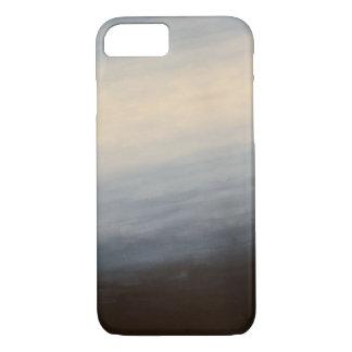 Creme zum dunkelblauen Ombre Telefon-Kasten iPhone 8/7 Hülle