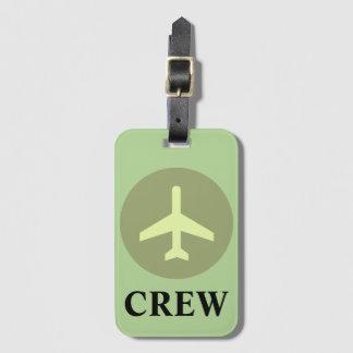 Crew-Gepäck-Umbau im Vintagen Grün Kofferanhänger