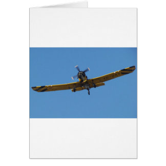 Cropsprayer Flugzeug Grußkarte