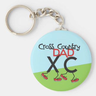 Cross Country-Vati - Cross Country-Läufer-Vati Standard Runder Schlüsselanhänger
