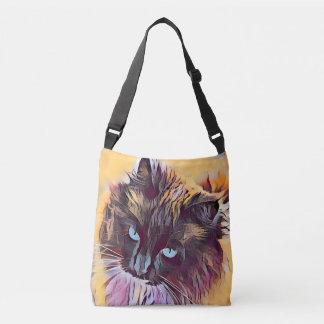 Crossbody Handtasche schöner Ragdoll Katze