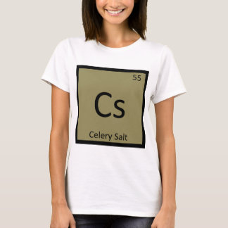 Cs - Sellerie-Salz-Chemie-Periodensystem-Symbol T-Shirt