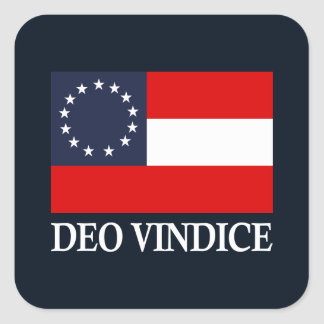 CSA 1. Staatsangehöriger (Deo Vindice) Quadratischer Aufkleber