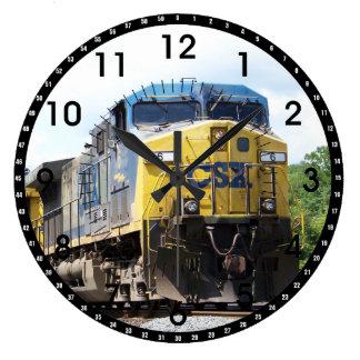 CSX Railroad AC4400CW #6 mit einem Kohlen-Zug Große Wanduhr