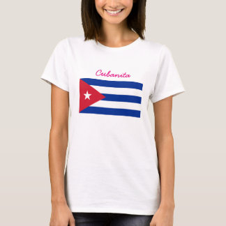 Cubanita Kubaner-Flagge T-Shirt