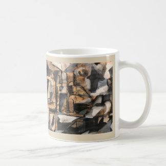 Cubist-Stuhl-Yoga-Tasse ~ Ka Malana Vorlagen-Kunst Tasse