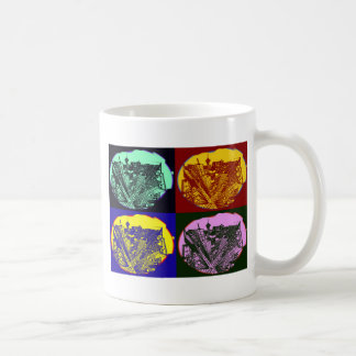 cup - city 3 point perspective pop art style kaffeetasse