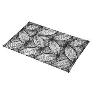 Curvy Streifen-Tabellen-Schwarzweiss-Tischsets Tischset