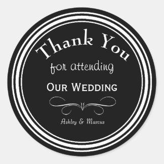 Custom Wedding Thank You Round Sticker