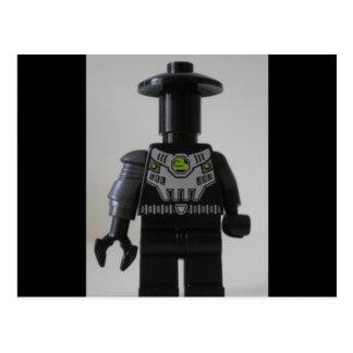 Cyber Droid Schatten-Soldat-Gewohnheit Minifigure Postkarte