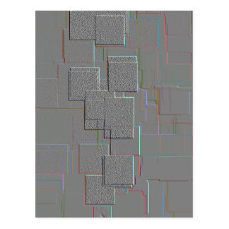 """""""Cyber-gotische"""" geometrische Kunst Postkarte"""