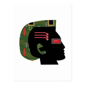 Cyber-Mann Postkarte