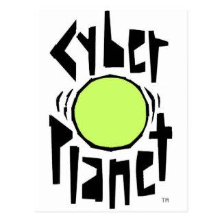 CYBER-PLANETEN-COOLES GLOBALES LOGO POSTKARTE