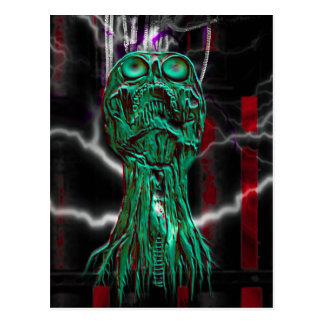 Cyber-Schrei-gotischer Postkarte
