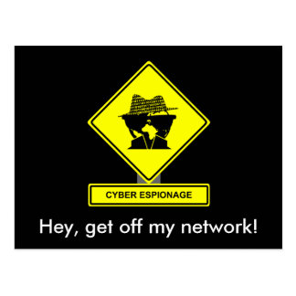 Cyber-Spionage-Postkarte Postkarte