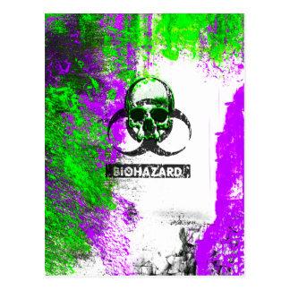 Cyber-TodGoth Schmutz-Kunst Postkarte