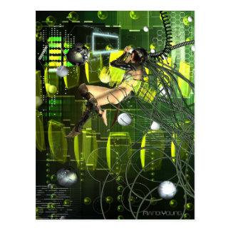 Cyber-Vogel Postkarte