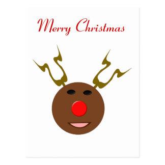 Cyber-Weihnachtsren-Gewohnheits-Postkarte Postkarte