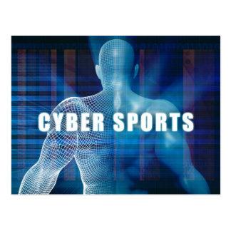 Cybersport als futuristisches Konzept abstrakt Postkarte