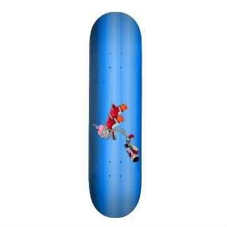 Cyborg Außerirdischer mit dem exposto. Gehirn Skateboard Bretter