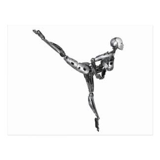 Cyborg-Ballett in der Arabeske Postkarte