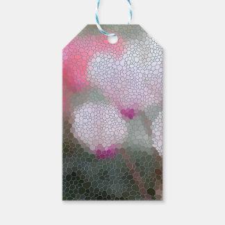 Cyclamen-Blumen-Mosaik Geschenkanhänger