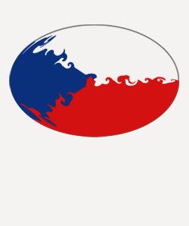 Czechia Gnarly Flaggen-T - Shirt