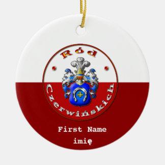 Czerwińskich Familienwappen-runde Verzierung Keramik Ornament