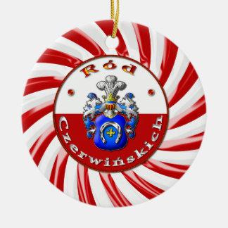 Czerwińskich Familienwappen rundes Ornaament Keramik Ornament