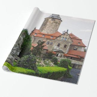 Czocha Schloss in Polen, mittelalterliche Geschenkpapier