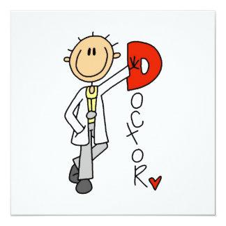 D ist für Doktor Individuelle Ankündigung