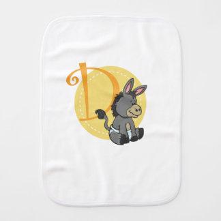 D ist für Esel Baby Spucktuch