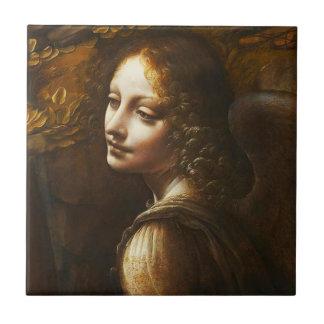 Da- VinciJungfrau der Felsen-Engels-Fliese Kleine Quadratische Fliese