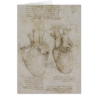 Da Vincis menschliche Herz-Anatomie-Skizzen Karte