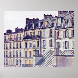 Dach-Spitzen-Gebäude Paris-Architektur-| Poster