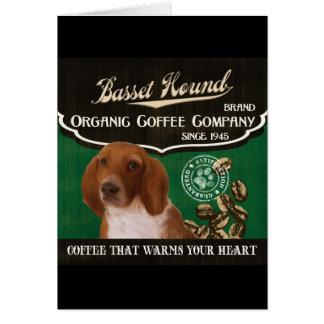 Dachshund-Jagdhund-Marke - Organic Coffee Company Karte