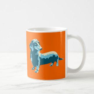 Dackel-Pop-Kunst-Hund Tasse