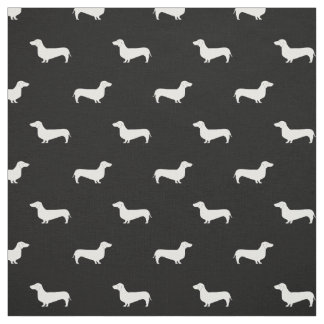 Dackel-Silhouette-Hundegewebe - Dackelgewebe Stoff